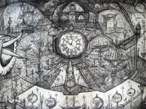 J Harrison's time devices,section of Longtitude; 5th one of nine sections, (central middle panel section)